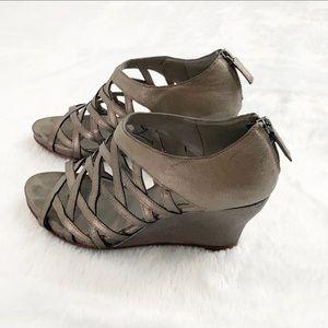 Eileen Fisher Platform Wedge Cage Sandals